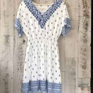 SKIES ARE BLUE Embroidered Dress
